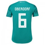 Germany Authentic Away Shirt 2018 with Oberdorf 6 printing