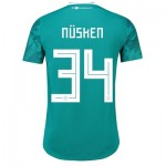 Germany Authentic Away Shirt 2018 with Nüsken 34 printing