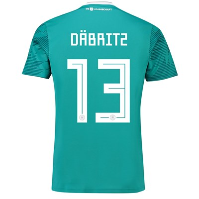 Germany Away Shirt 2018 with Däbritz 13 printing