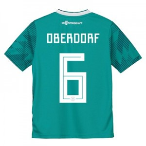 Germany Away Shirt 2018 - Kids with Oberdorf 6 printing
