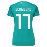 Germany Away Shirt 2018 - Womens with Schweers 17 printing