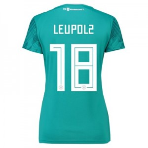 Germany Away Shirt 2018 - Womens with Leupolz 18 printing