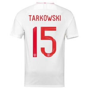 England Home Stadium Shirt 2018 - Men's with Tarkowski 15 printing