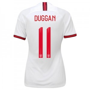 England Home Stadium Shirt 2019-20 - Women's with Duggan 11 printing