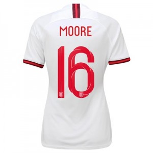 England Home Stadium Shirt 2019-20 - Women's with Moore 16 printing