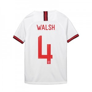 England Home Stadium Shirt 2019-20 - Kid's with Walsh 4 printing