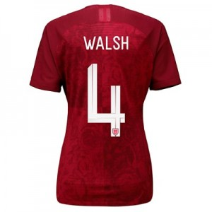 England Away Vapor Match Shirt 2019-20 - Women's with Walsh 4 printing