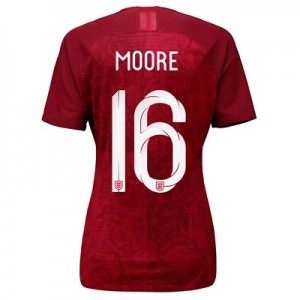 England Away Vapor Match Shirt 2019-20 - Women's with Moore 16 printing