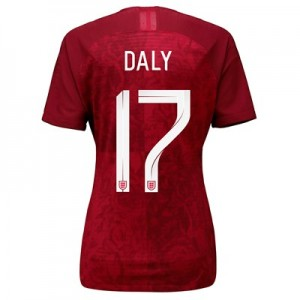 England Away Vapor Match Shirt 2019-20 - Women's with Daly 17 printing