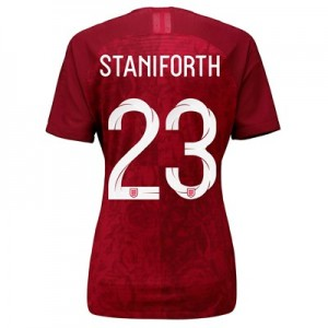 England Away Vapor Match Shirt 2019-20 - Women's with Staniforth 23 printing