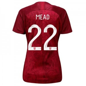 England Away Stadium Shirt 2019-20 - Women's with Mead 22 printing