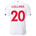 Liverpool Away Shirt 2019-20 with Lallana 20 printing
