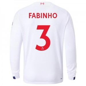 Liverpool Away Shirt 2019-20 - Long Sleeve with Fabinho 3 printing