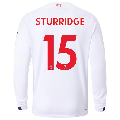 Liverpool Away Shirt 2019-20 - Long Sleeve with Sturridge 15 printing
