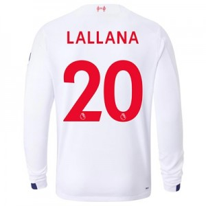 Liverpool Away Shirt 2019-20 - Long Sleeve with Lallana 20 printing