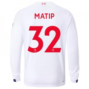 Liverpool Away Shirt 2019-20 - Long Sleeve with Matip 32 printing