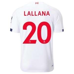 Liverpool Away Shirt 2019-20 - Kids with Lallana 20 printing