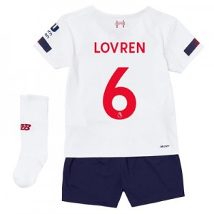 Liverpool Away Infant Kit 2019-20 with Lovren 6 printing