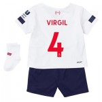 Liverpool Away Baby Kit 2019-20 with Virgil 4 printing