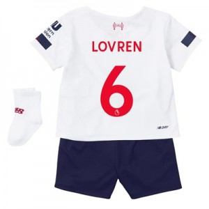 Liverpool Away Baby Kit 2019-20 with Lovren 6 printing