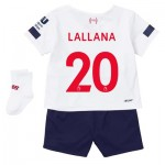 Liverpool Away Baby Kit 2019-20 with Lallana 20 printing