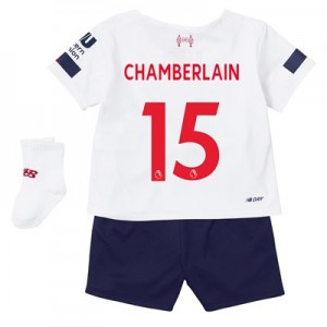 Liverpool Away Baby Kit 2019-20 with Chamberlain 15 printing