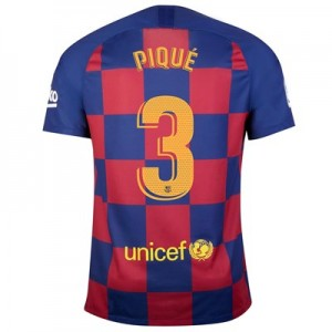Barcelona Home Vapor Match Shirt 2019-20 with Piqué 3 printing
