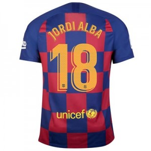 Barcelona Home Vapor Match Shirt 2019-20 with Jordi Alba 18 printing