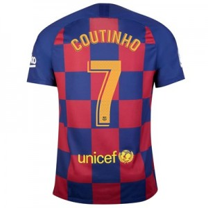 Barcelona Home Vapor Match Shirt 2019-20 with Coutinho 7 printing
