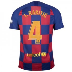 Barcelona Home Vapor Match Shirt 2019-20 with I.Rakitic 4 printing