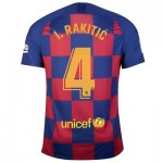 Barcelona Home Stadium Shirt 2019-20 with I.Rakitic 4 printing