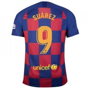Barcelona Home Stadium Shirt 2019-20 with Suárez 9 printing