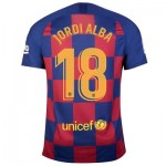 Barcelona Home Stadium Shirt 2019-20 with Jordi Alba 18 printing