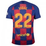 Barcelona Home Stadium Shirt 2019-20 with Vidal 22 printing