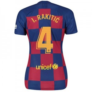Barcelona Home Vapor Match Shirt 2019-20 - Womens with I.Rakitic 4 printing