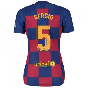 Barcelona Home Vapor Match Shirt 2019-20 - Womens with Sergio 5 printing