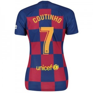 Barcelona Home Vapor Match Shirt 2019-20 - Womens with Coutinho 7 printing