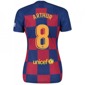 Barcelona Home Vapor Match Shirt 2019-20 - Womens with Arthur 8 printing