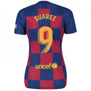 Barcelona Home Vapor Match Shirt 2019-20 - Womens with Suárez 9 printing
