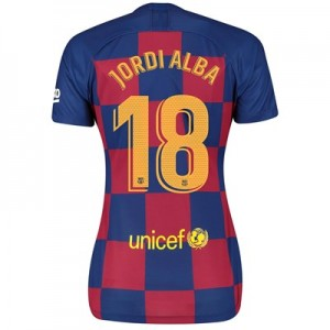 Barcelona Home Vapor Match Shirt 2019-20 - Womens with Jordi Alba 18 printing