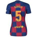 Barcelona Home Stadium Shirt 2019-20 - Womens with Sergio 5 printing