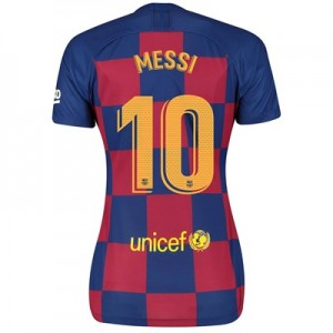 Barcelona Home Stadium Shirt 2019-20 - Womens with Messi 10 printing