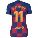 Barcelona Home Stadium Shirt 2019-20 - Womens with O. Dembélé 11 printing