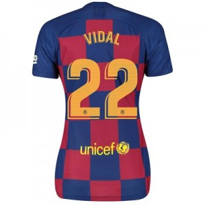 Barcelona Home Stadium Shirt 2019-20 - Womens with Vidal 22 printing