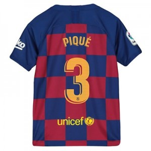 Barcelona Home Vapor Match Shirt 2019-20 - Kids with Piqué 3 printing