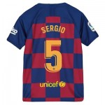 Barcelona Home Vapor Match Shirt 2019-20 - Kids with Sergio 5 printing
