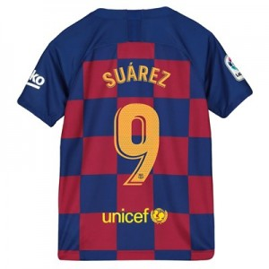 Barcelona Home Vapor Match Shirt 2019-20 - Kids with Suárez 9 printing