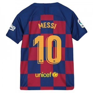 Barcelona Home Vapor Match Shirt 2019-20 - Kids with Messi 10 printing