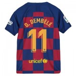 Barcelona Home Vapor Match Shirt 2019-20 - Kids with O. Dembélé 11 printing