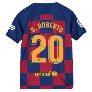 Barcelona Home Vapor Match Shirt 2019-20 - Kids with S.Roberto 20 printing